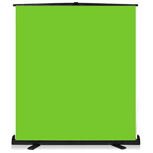 Yesker Upgrade Green Screen 73.2x77.5 inch Wider 180cmx 196cm Background Collapsible Chromakey Photo Backdrop Portable Pull Up with Aluminium Base Wrinkle-Resistant Fabric for Video Studio Live Game