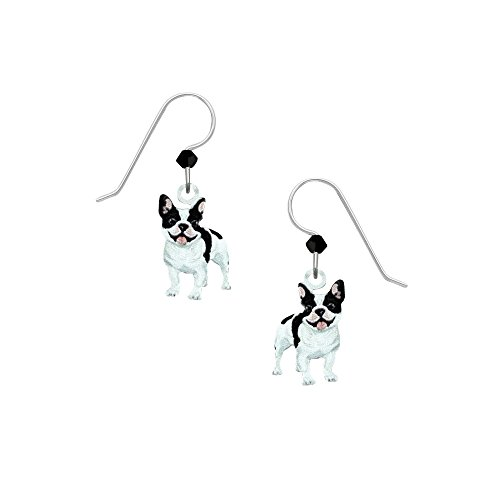 Sienna Sky Artisan French Bulldog Earrings with Gift Box