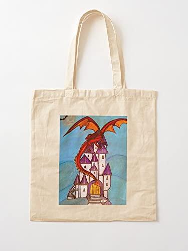 Générique Fantasy Myth Mythical Dragons Dragon Legend Art | Bolsas de lona con asas, de algodón duradero