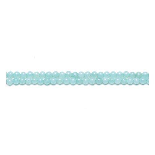 Filo 110+ Turchese Amazzonite 3mm Tondo Perline GS9709-2 (Charming Beads)