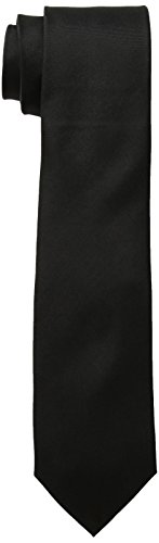 Calvin Klein Men's Malte Satin Solid Slim Tie,Black,One Size