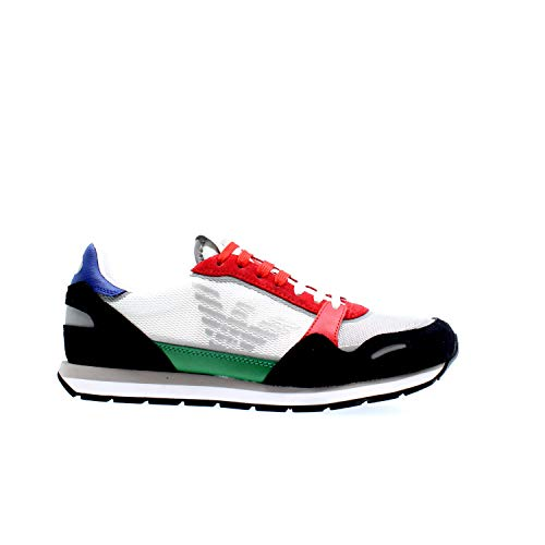 Emporio Armani X4X537 - Zapatillas con cordones de ante y tela de hombre