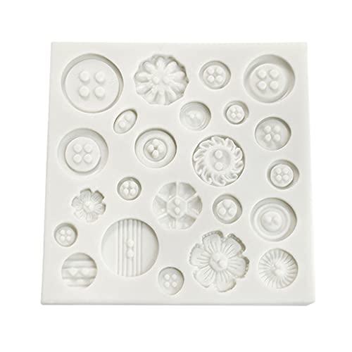 Moldes de silicona para hornear, 1 juego de 23 cavidades botón chocolate DIY molde Baby Shower Fondant Sugar Craft Chocolate Chip Fondant y Candy Mold