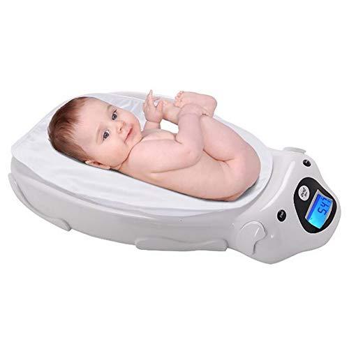 ZLMI Électronique Bébé Échelle Multifonction Santé Échelle De Poids Smart avec La Musique Pesage Maximum 20Kg (Blanc)