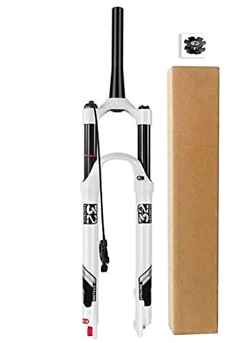 Horquillas Suspensión para Bicicleta de Montaña 26 27,5 29 Pulgadas, Aleación Magnesio 1-1/8' Tubo Dirección Recto Bicicleta MTB Horquilla Viaje 140mm