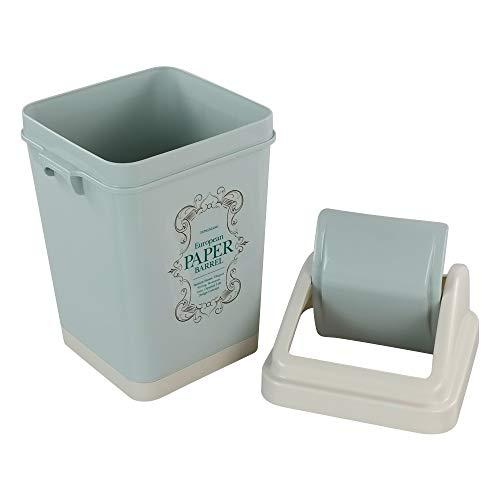 Xowine Cubo de basura de plástico de 5 L, Cubo de basura, C