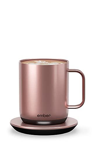 New Ember Temperature Control Smart Mug 2, 10 oz, Rose Gold,...