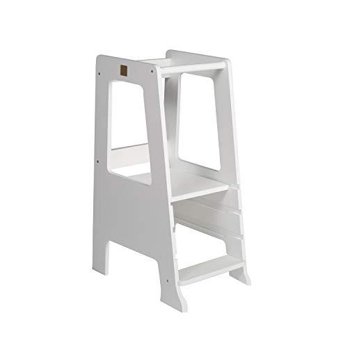 Torre de aprendizaje Montessori color blanco