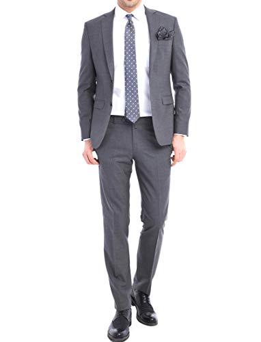 Keskin Anzug Herren Blau Anzug Herren Schwarz Blau Grau Business Slim Fit (98, Grau)