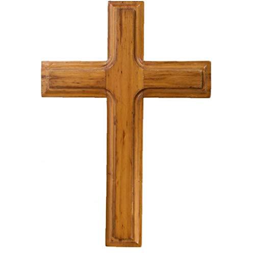 PiniceCore Decoración De Madera Jesucristo Cruz De La Pared Adornos Wall Mounted Católica De Madera Recuerdos De Oficina Meditación Cruces Fiesta Crafts