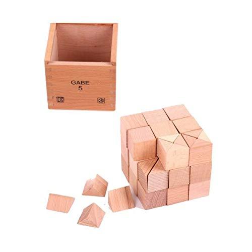 CUTICATE Cubos De Madera para Niños Pequeños Bloques De Construcción Juguetes En Caja