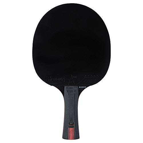 Stiga 5-Star Prestige Carbon Palas de Ping Pong, Unisex-Adult, Black/Red, One Size