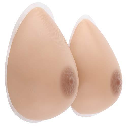 Vollence Silicona Formas de mama Senos de Silicona Autoadhesivos Senos Falsos para Mastectomías Prótesis Transgénero Travesti Cosplay CD