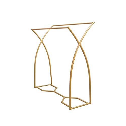 Hallway Furniture AOYANQI-Percheros Paralelas Barra de Colgar, boutiques de Ropa exhibición del Soporte de Metal de Aterrizaje Trate Percha Vestido la Camiseta Nakajima Barra de Colgar Oro Multiusos