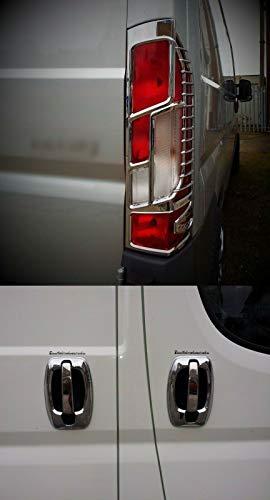 Se adapta a partir de 2014 para Citroen Jumper Relay ABS cromado lámpara trasera cubierta y manija de puerta y cubierta de llanta.