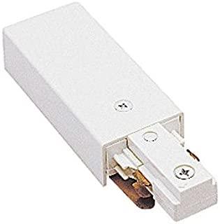 WAC Lighting J2-LE-WT J Track 2-Circuit Live End Connector, White