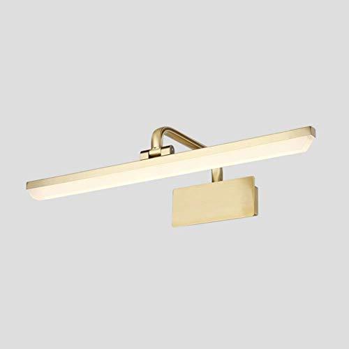 WLGQ Luz de Imagen LED Vintage, iluminación Frontal Moderna giratoria, luz de baño antiniebla ip44, para Luces de tocador de Maquillaje Junto a la Cama, 1120lm, Luces de Pared de Bronce, luz cáli