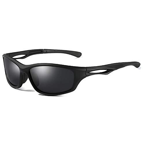 ZHHk Gafas Deportivas De Ciclismo Salvaje TR90 Tendencia Gafas De Sol Negro/Marrón/Azul Marco Negro Hombres Y Mujeres con Las Mismas Gafas De Sol Gafas de Sol (Color : Black)
