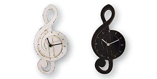 Dakota Reloj de Pared Clave de Sol. 28 cm. Blanco o Negro 1 Unidad