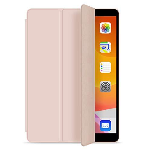 ZOYU New iPad 10.2 Case 2020 iPad 8th Generation Case / 2019 iPad 7th Generation Case, Soft TPU Back Cover Slim Smart case Shell for iPad 10.2 inch, Auto Wake/Sleep iPad 7th Gen 8th Gen (Pink)