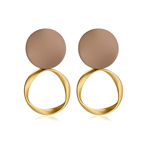 Women's Earrings Korean Acrylic Drop Earrings for Women Statement Geometric Round Gold Earring 2020 Fashion Trend Female Jewelry-Style 338