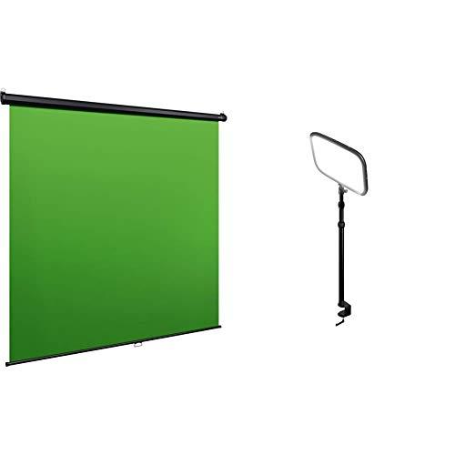 Corsair Elgato Key Light, professionelle LED Studiobeleuchtung + Elgato Green Screen MT, Wand/Deckenmontage