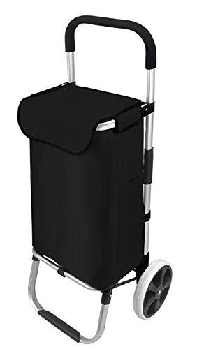 Xbshmw Multifunctional Folding Trolley, Foldable Shopping Cart, 40L large Capacity Supermarket Shopping Bag, 8inch Bearing Wheel for Shopping Grocery