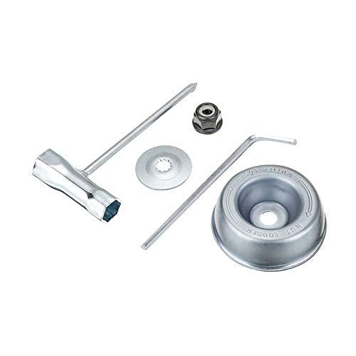 Yieking Blade Adapter Kit for Stihl FS55 FS56 FS80 FS85 FS90 FS100 FS110RX FS120 FS130 FS200 FS250 FR220 FR350 FR450 FR480 Brushcutter (Rider Plate, Thrust Washer, Collar Nut, Wrench)