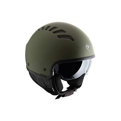 Tucano Urbano EL Fresh Casco para Moto, Accesorio Unisex para Adultos, Verde Airborne Opaco, L