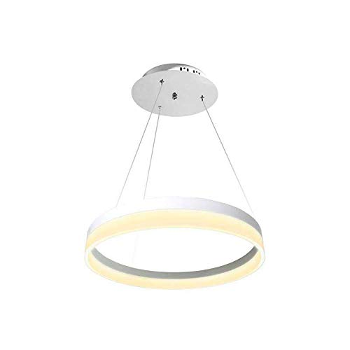 Luminaria colgante RING 43W, Ø60cm, Blanco cálido
