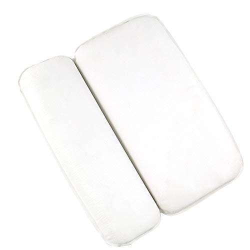 AKEFG Reposacabezas de Almohada para bañera, Almohada de baño ergonómica, diseño de 2 Paneles para Hombros, Cuello, Cabeza y Hombros y Soporte para la Espalda, con 7 ventosas de Fuerte Agarre