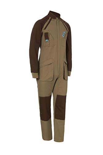 Buzo de Trabajo Bicolor Manga Larga. con Cremallera. Soldador/Jardinero/Mecánico. Color Beige Marron Talla 44-46. Ref: 1128