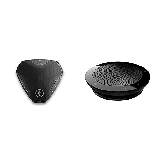 Konftel EGO mobiles Konferenzsystem schwarz und Jabra Speak 510 - Mobiler Konferenzlautsprecher mit USB- & Bluetooth-Verbindung - Kompatibel mit Laptops, Smartphones & Tablets