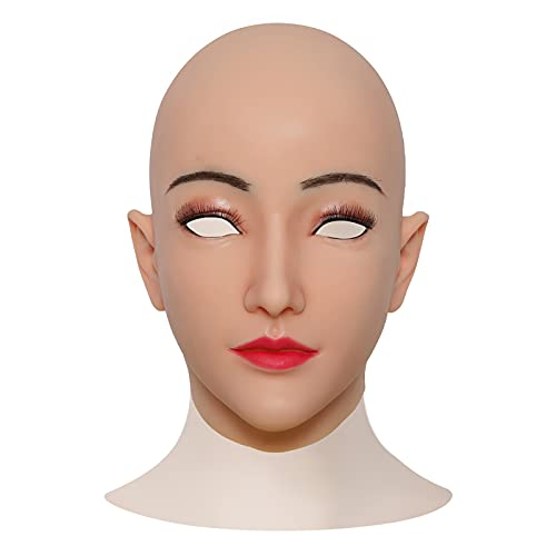 Máscara De Cabeza Halloween Realista Antigüedad De Horror Arruga Máscara Facial De Goma para Actor,Real Diguise Creepy Party Customes