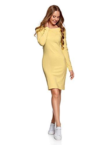 Vestido amarillo de punto ajustado