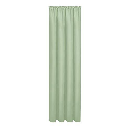 Gardine Magdalena aus zertifizierter Bio Baumwolle B/H: 140/245 cm blickdichter Vorhang grün