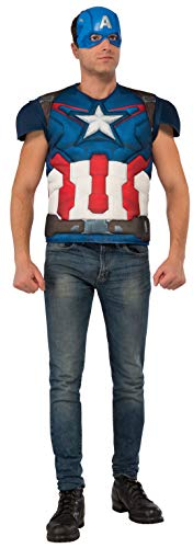 Rubie's Avengers Age Of Ultron Adult Captain America Muscle Chest...
