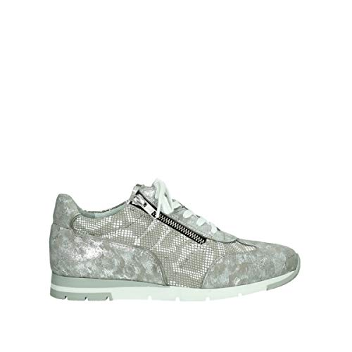 Wolky Comfort Sneakers Yell XW - 48150 Taupe bedrucktes Veloursleder - 39