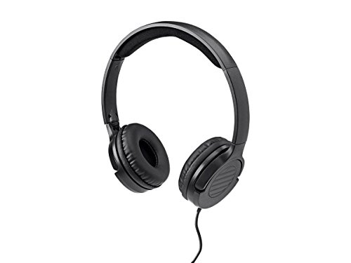 cheap Monoprice 113191 Lightweight on-ear Hi-Fi headphones with integrated play / pause and …