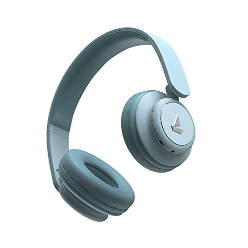 boAt Rockerz 450 Wireless Bluetooth Headphone with Up to 15H Playback, Adaptive Lightweight Design, Immersive Audio, Easy Access Controls and Dual Mode Compatibility(Aqua Blue)