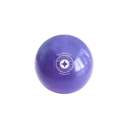 STOTT PILATES Toning Ball (Purple), 1 lbs / 0.45 kg by STOTT PILATES