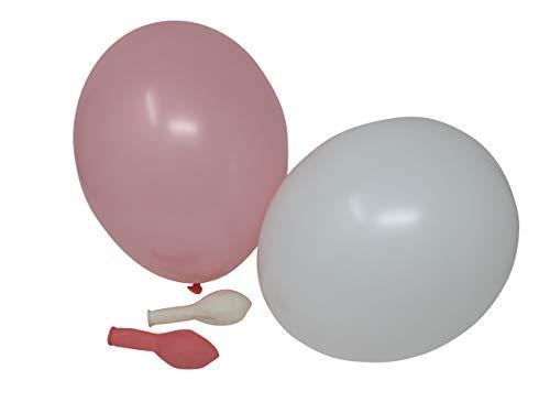 100 Luftballons je 50 rosa & weiß Qualitätsballons 27 cm Ø (Standardgröße B85)