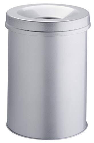 Durable 330510 Corbeille à papier Anti-éraflure + Métal 15L Gris