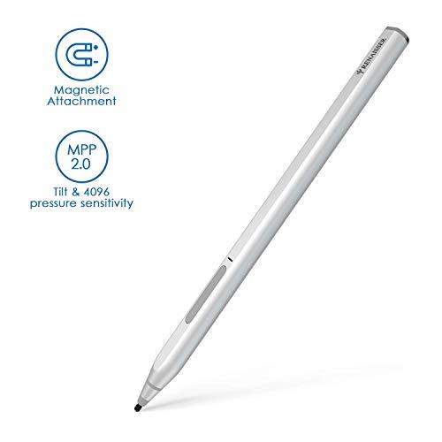 RENAISSER Surface Pen, Conexión Magnética, Primera Forma de D Igual Que El Surface Pen, Carga Rápida, Sensibilidad De Presión Máxima 4096, Recargable, Cuerpo de Aluminio, Raphael 520