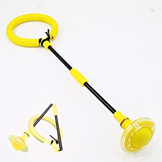 Vikbar ankel hoppboll blinkande hoppande ring färgglad sport svängboll, hopprep förbättra koordinationen, få träning på de...