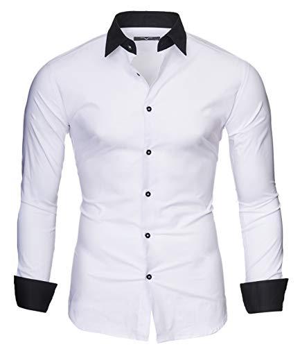 Kayhan Herren Hemd Mailand, Weiß (XL)