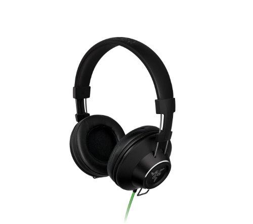 Razer Adaro Stereos schwarz ohrumschließend Kopfhörer Headset–Kopfhörer (ohrumschließend, Kopfband, verkabelt, 20–20000Hz, 104dB, schwarz)