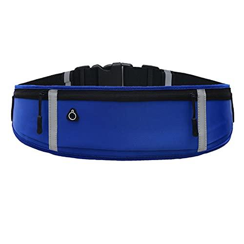 Riñonera para mujer, cinturón de correr con soporte de teléfono impermeable para entrenamientos, viajes y más... Bolsa de correr con bandas reflectantes y agujero para auriculares.