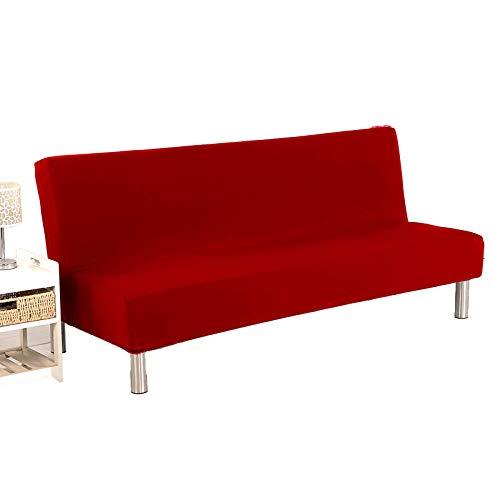 GAKIN Sofabezug ohne Armlehnen, abnehmbar, waschbar, Polyester, Elastan, Stretch, Rot, 1 Stück