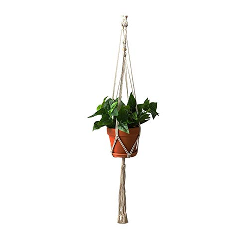 SYLOZ Plantador colgante, estilo retro, hecho a mano de cuerda de algodón Planta Cesta Ollas Holder, for las plantas, cubierta al aire libre Jardín Sitio de la pared (15 cm de diámetro) SYLOZ-URG